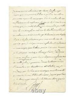 LOUIS XVI / Lettre autographe signée / Necker / Dépenses / Ancien régime / 1781