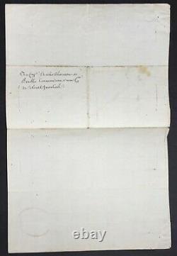 LOUIS XVI Roi France Lettre signée Soldats Invalides Letter signed 1786