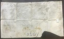 LOUIS XV Roi de France & Régent Duc dOrléans Document / lettre signée 1722