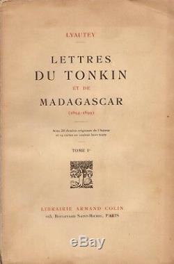 LYAUTEY Lettres du Tonkin et de Madagascar 1894-1899 ENVOI AUTOGRAPHE SIGNÉ