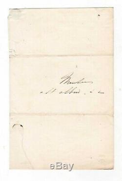 Lamartine / Lettre Autographe Signée / À M. De St Albin / Chemins De Fer