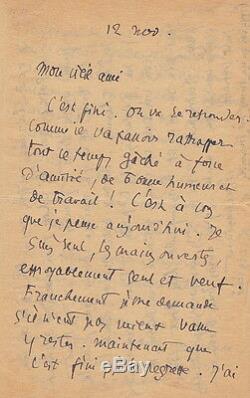 Léo LARGUIER Lettre autographe signée au lendemain de l'armistice de 1918