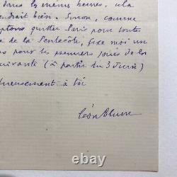 Léon Blum Lettre autographe signée