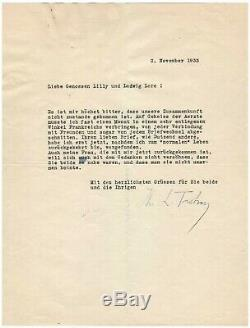Léon Trotsky / Lettre Signée (1933) / En Exil En France / Socialisme / Marx