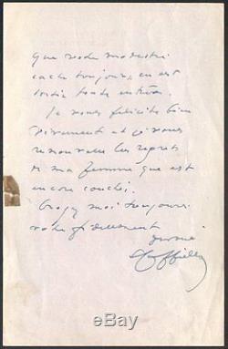 Leonetto Cappiello. Lettre autographe signee et datee 1933