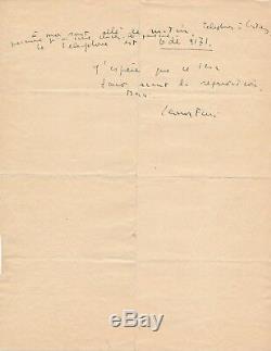 Léonor Fini lettre autographe signée décor théâtre Castaing Roger Lauran