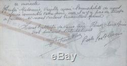 Les Frères FRATELLINI Lettre autographe signée. Le cirque et l'opérette