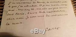Lettre Autographe Signée 1947 Francis Carco
