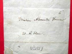 Lettre Autographe Signee De Meyerbeer A Dumas 1832