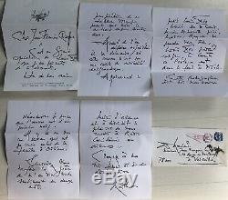 Lettre Autographe Signée Du Peintre Georges Mathieu À L'historien J. F. Chiappe