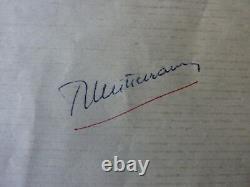 Lettre SIGNE AUTOGRAPHE FRANCOIS MITTERRAND HAND SIGNED 1947 president envoi