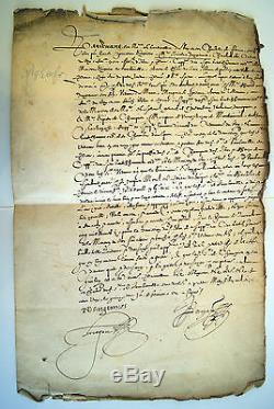 Lettre Signée De Nicolas D'angennes, Seigneur De Rambouillet
