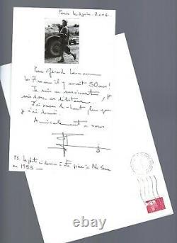 Lettre autographe signée de Pierre SCHOENDOERFFER sur DIEN BIEN PHU