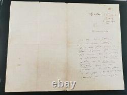 Lettre de Frédéric MISTRAL manuscrite AUTOGRAPHE / signé 1874