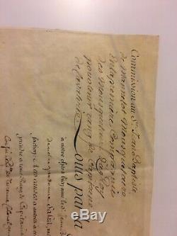 Lettre signé louis xv