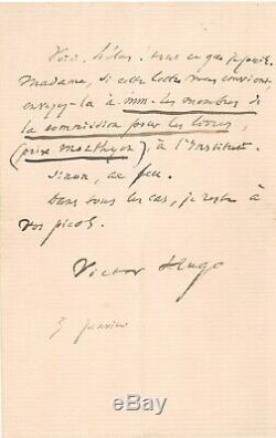 Lettre signée Victor Hugo (Autographe)