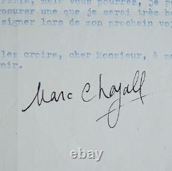 Lettre signée de Marc Chagall
