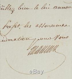 Lettre signée du maréchal Masséna