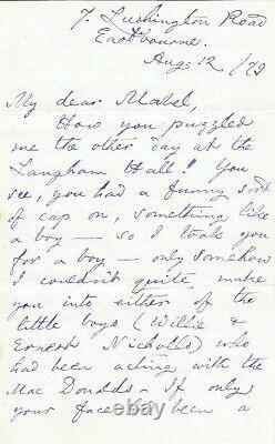 Lewis CARROLL Lettre autographe signée Lewis Carroll à Mabel Amy Burton 1879