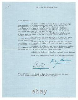 Liane de POUGY Harry Baur / Ensemble de lettres signées / Cocotte / Années 30