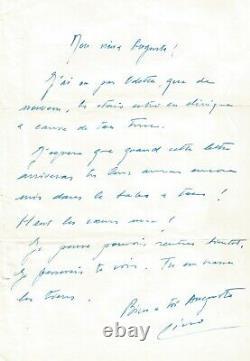 Lino VENTURA Lettre autographe signée à Auguste Le Breton. 1964