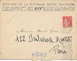 Littérature André Malraux lettre autographe signée La Condition humaine