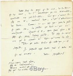 Littérature André SUARÈS lettre autographe signée Paul FORT très belle lettre