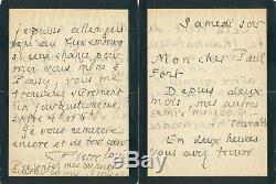 Littérature Pierre LOUYS lettre autographe signée à Paul FORT Mallarmé