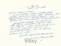 Littérature Samuel Beckett lettre autographe signée livre Van Gogh