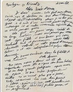 Littérature art Louise Hervieu lettre autographe signée à Renée Dunan