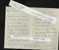 Lot 27 lettres autographes signées Henri Martin peintre, datées 1909 1925