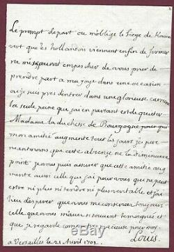 Louis De France Lettre Autographe Signée/père De Louis Xv/duc De Bourgogne
