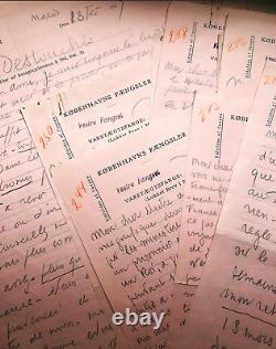Louis-Ferdinand CELINE Ensemble de douze lettres autographes signées de prison
