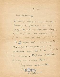 Louis-Ferdinand CELINE Lettre autographe signée