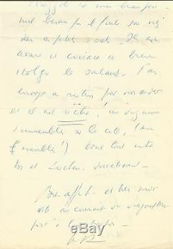 Louis-Ferdinand CELINE / Lettre autographe signée / 2 pages in-folio