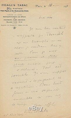 Louis Ferdinand CELINE Lettre autographe signée Destouches à J. Deval. 1933