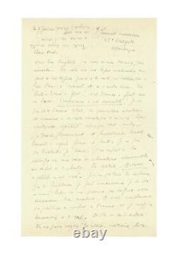 Louis-Ferdinand CELINE / Lettre autographe signée / Inédite / Désespoir / Féérie