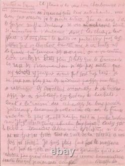 Louis-Ferdinand CÉLINE Lettre autographe signée. Lettre de prison. Danemark 1947
