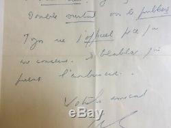 Louis Ferdinand CELINE Lettre autographe signée à Charles Deshayes 1949
