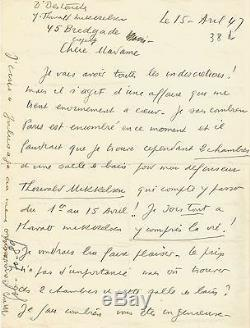 Louis-Ferdinand CELINE / Lettre autographe signée à J. Daragnès / Sur Mikkelsen