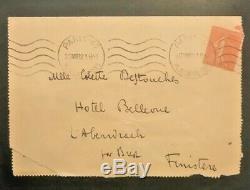 Louis Ferdinand Céline Lettre Autographe Signée À Sa Fille Colette Rue Lepic1932