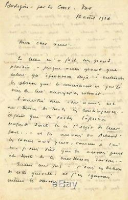 Louis JOUVET / Lettre autographe signée. Ses doutes dhomme de théâtre en 1924