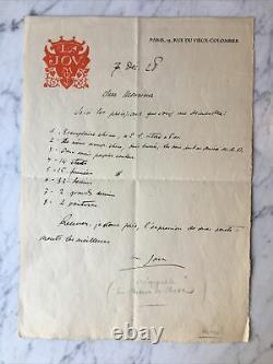 Louis JOU Lettre Autographe + 2 Prospectus + Enveloppe Le Chemin de la Croix