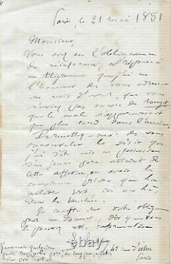 Louis PASTEUR Lettre autographe signée Vaccin rouget du porc