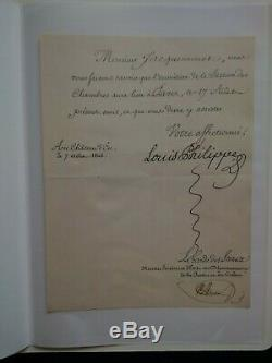 Louis Philippe Lettre Signée + Enveloppe Autographe Du Roi