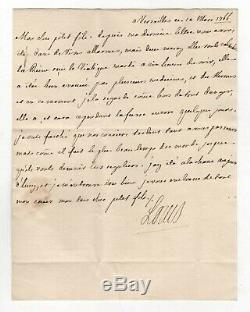 Louis XV / Lettre Autographe Signée (1766) / Sur La Santé De Marie Leszczinska