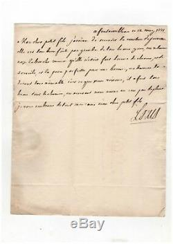 Louis XV / Lettre Autographe Signée (1771) / Sur Le Mariage Du Futur Louis XVIII