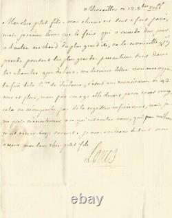 Louis XV Lettre autographe signée à son petit-fils, Ferdinand Ier de Parme