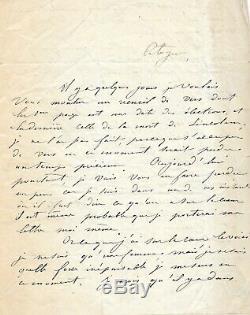 Louise MICHEL Lettre autographe signée. Extraordinaire lettre sur la République