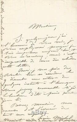 Louise MICHEL Lettre autographe signée à Eugène Pelletan. Circa 1855